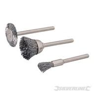 Silverline 3-part wire brush set