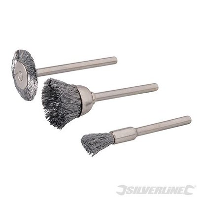Silverline 3-teiliges Drahtbürstenset
