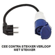 Hofftech Cee Contra Plug natürlich mit Stecker