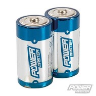 Silverline Type D super alkaline batterij LR20, 2 pk.