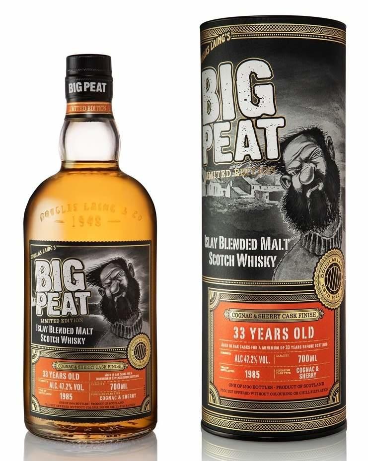 Big Peat 33 Jahre mit Sherry- und Cognac-Finish