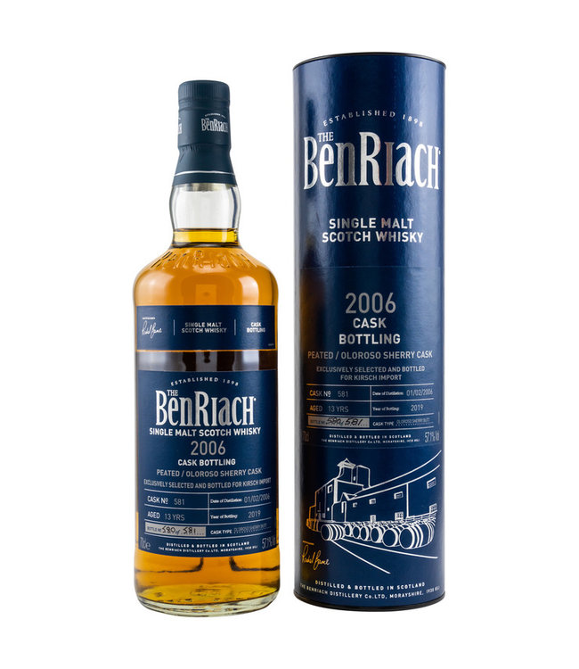 BenRiach Peated 13-Jahre 2006/2019 Exclusively bottled for Kirsch Whisky