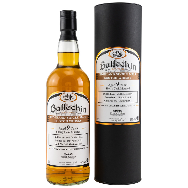 Ballechin 2009/2019 Sherry Cask Matured Signatory Un-Chillfiltered