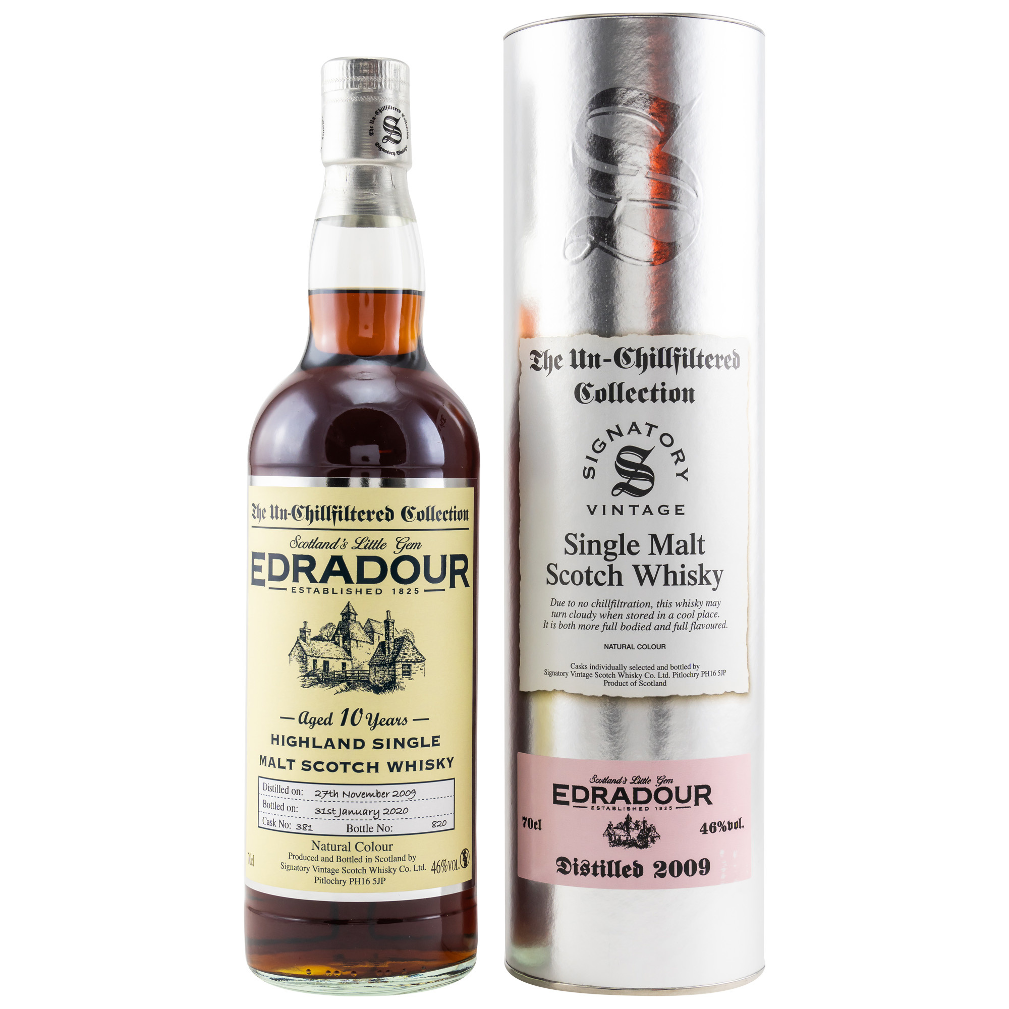 Black is back - Edradour 2009 Signatory Vintage Un-Chillfiltered Collection