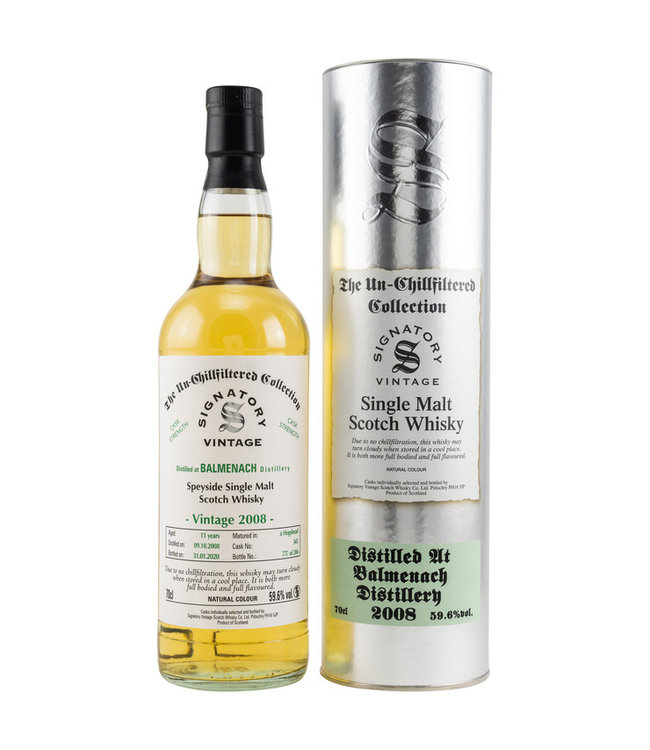 Balmenach Un-Chillfiltered Cask Strength 11 Jahre-2008/2020