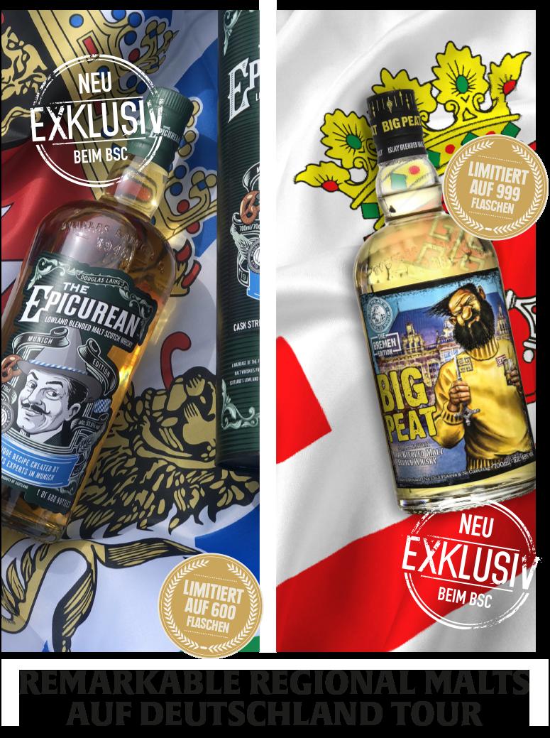 Exklusiv für Deutschland: Epicurean Munich Edition & Big Peat Bremen Edition