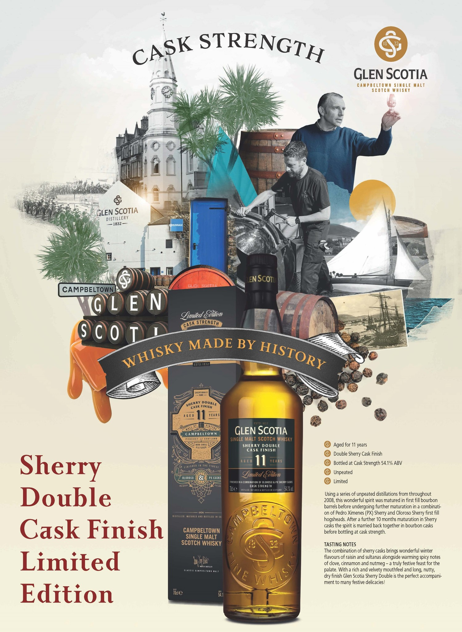 Neue limitierte Abfüllung aus Campbeltown: Glen Scotia Sherry Double Cask in Fassstärke