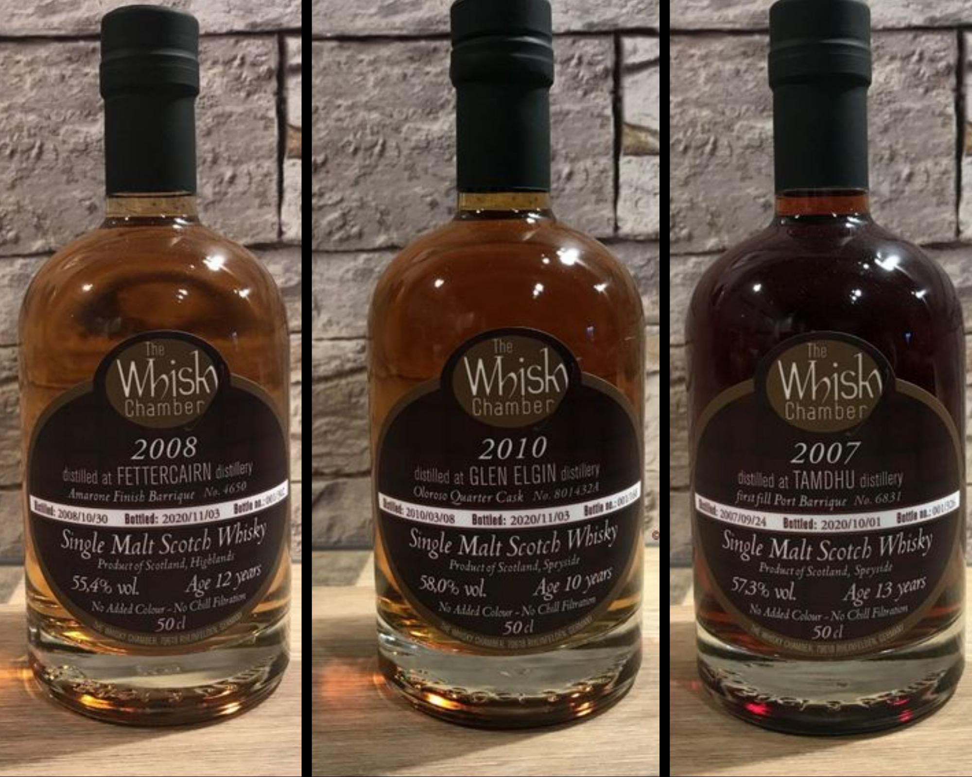 Alle guten Dinge sind drei: Neue Abfüllungen von The Whisky Chamber