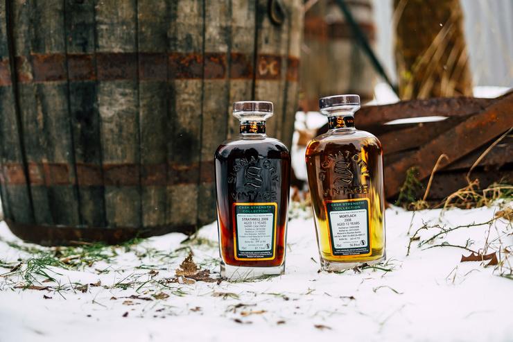 Sherry- und Bourbonreifung in Fassstärke: Köstlichkeiten aus der Signatory Vintage Cask Strength Collection