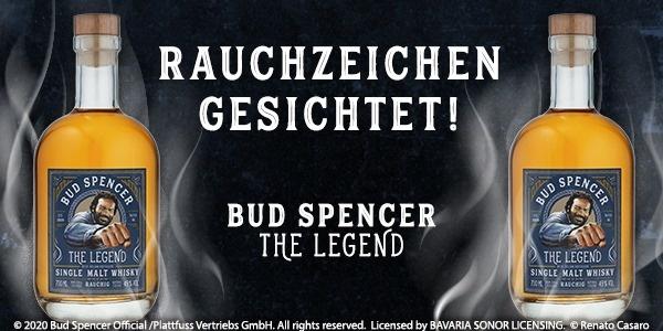 Rauchzeichen gesichtet: St. Kilian präsentiert Bud Spencer Whisky The Legend Rauchig