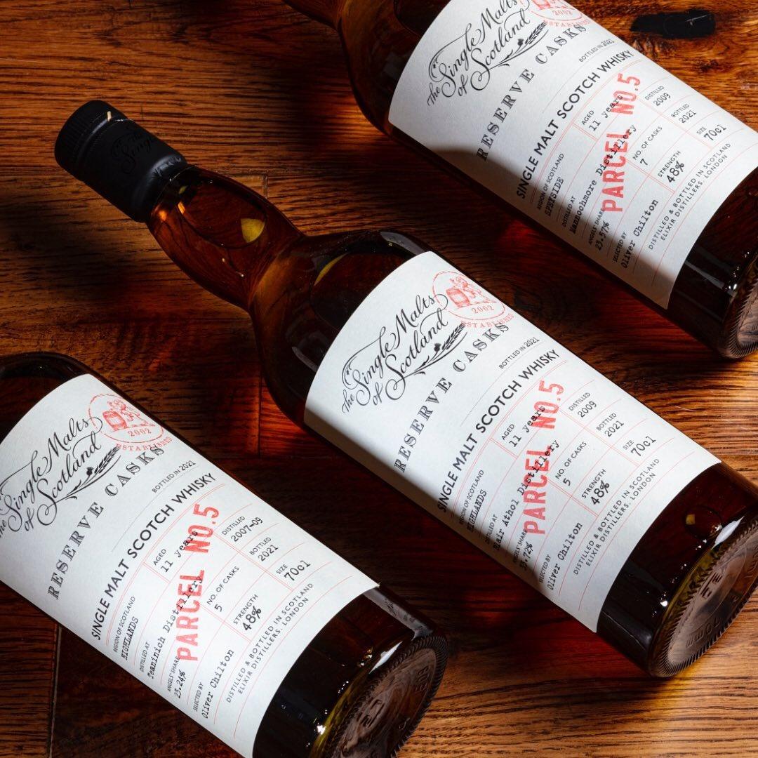 Elixir Distillers: Parcel #5 besteht aus drei Abfüllungen