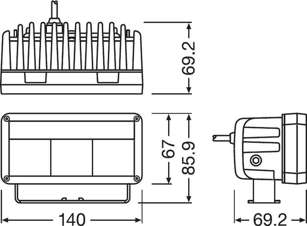 OSRAM OSRAM Lightbar MX140-WD Breedstraler