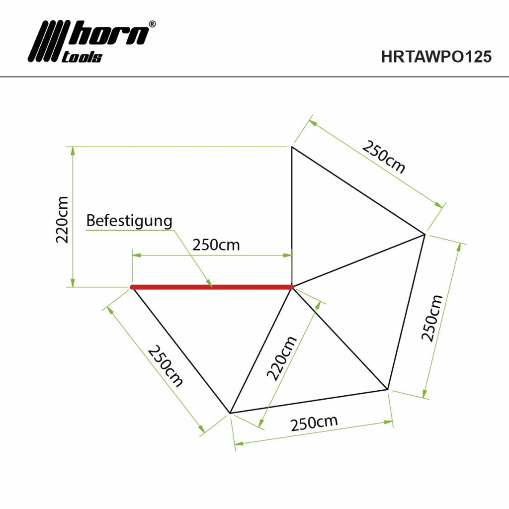 Horntools Luifel Eaglewing 2,5x2,5m