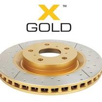 DBA 2722EX X- Gold Remschijf Voorkant Geslot en Gedrilled