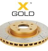 DBA 2723EX X- Gold Remschijf Achterkant Geslot en Gedrilled