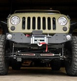 FRONT BUMPER WITH WINCH PLATE AND FIXING FOG LAMPS