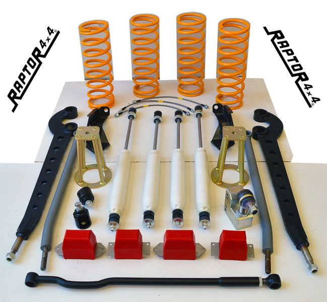 """Raptor 4x4 LAND ROVER DISCOVERY 1 SUSPENSION LIFT KIT +10 CM """"EXTREME"""""""