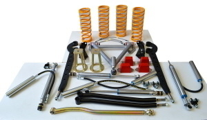 """Raptor 4x4 LAND ROVER DEFENDER 90/110, DICOVERY 1, RRC """"TRACTION EXTREME EVO"""" SUSPENSION KIT +10 CM"""