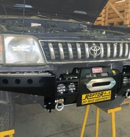 Raptor 4x4 FRONT SQUARED WINCH BUMPER FOR TOYOTA KZJ90 ST STYLE