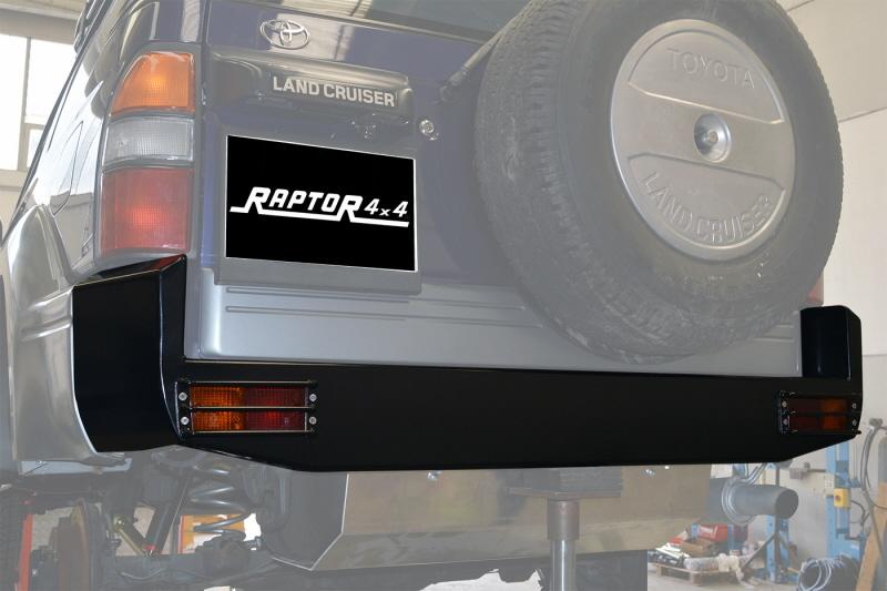 Raptor 4x4 REAR SQUARED BUMPER FOR TOYOTA KZJ90/95