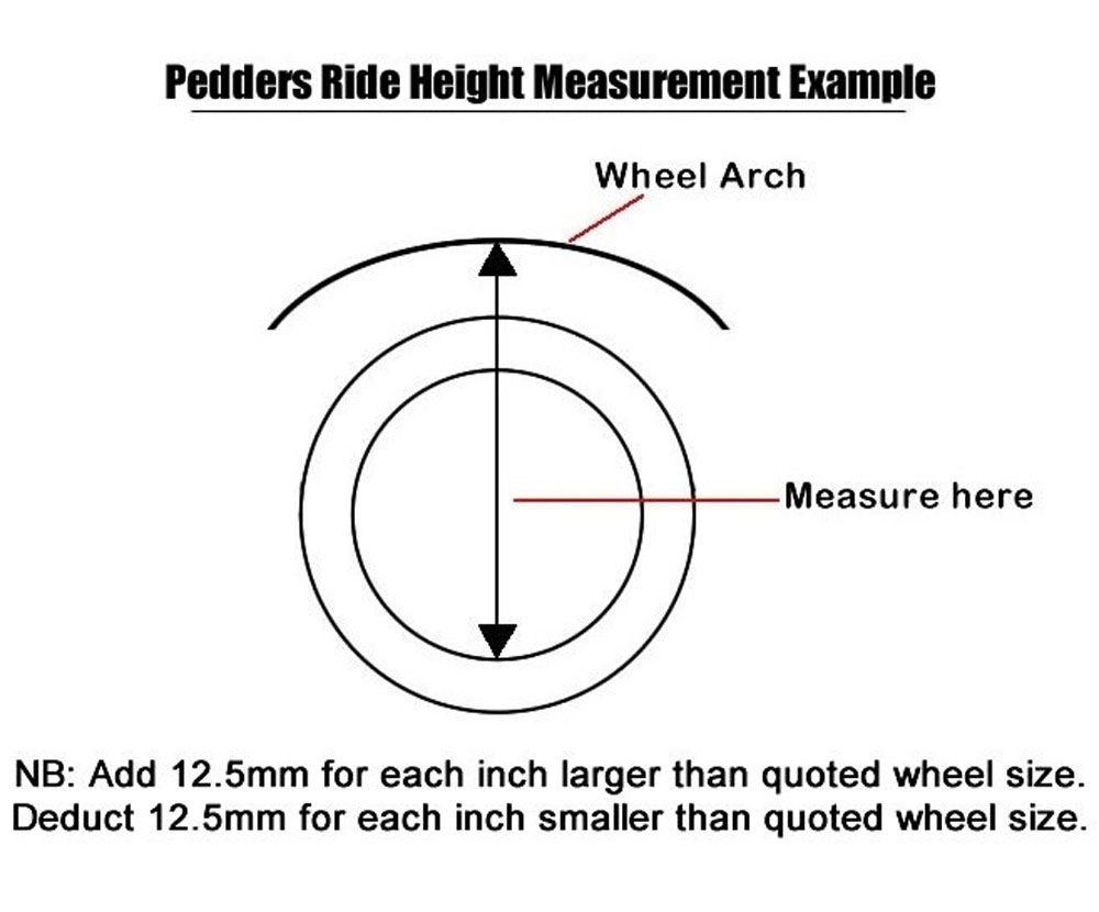 Pedders 2 Inch Suspension Lift Kit. Ford Ranger 2018+