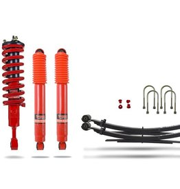 pedders Pedders Extra Heavy Duty Load Carrying and Towing Suspension Kit. With Assembled struts. For Ford Ranger 2011+