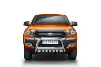 Bullbar with cross bar and axle-plate - Ford Ranger