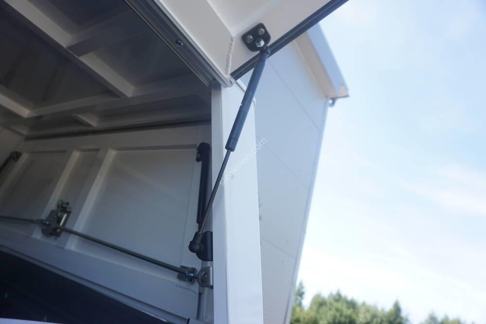 Aluminium technical canopy - with side doors - Isuzu D-Max single cabin (2012 - 2017 - 2020)