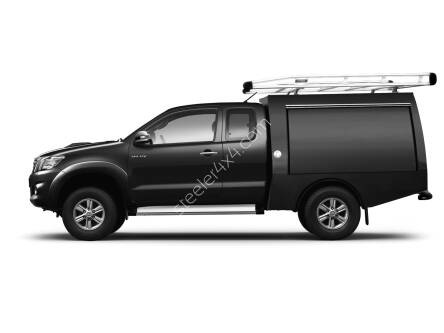 Commercial hard top - with side doors - Isuzu D-Max extra cabin (2012 - 2017 - 2020)