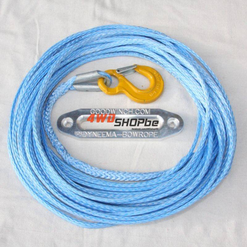 Bow rope 10mm x 30.5m (100') ready rigged with safety hook