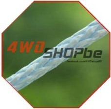 Bow rope 12mm x 30.5m (100') ready rigged with safety hook