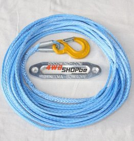 Bow rope 14mm x 30.5m (100') ready rigged with safety hook