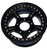 Tyrex Beadlock 5-Spoke 7x16 ET-25 Zwart