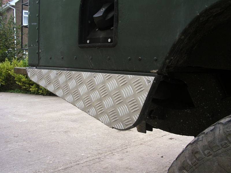 Raptor 4x4 Hoek Traanplaat 2mm Defender 110