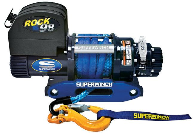 Superwinch Rock 98SR 24V Synthetic Rope & Alu Haws