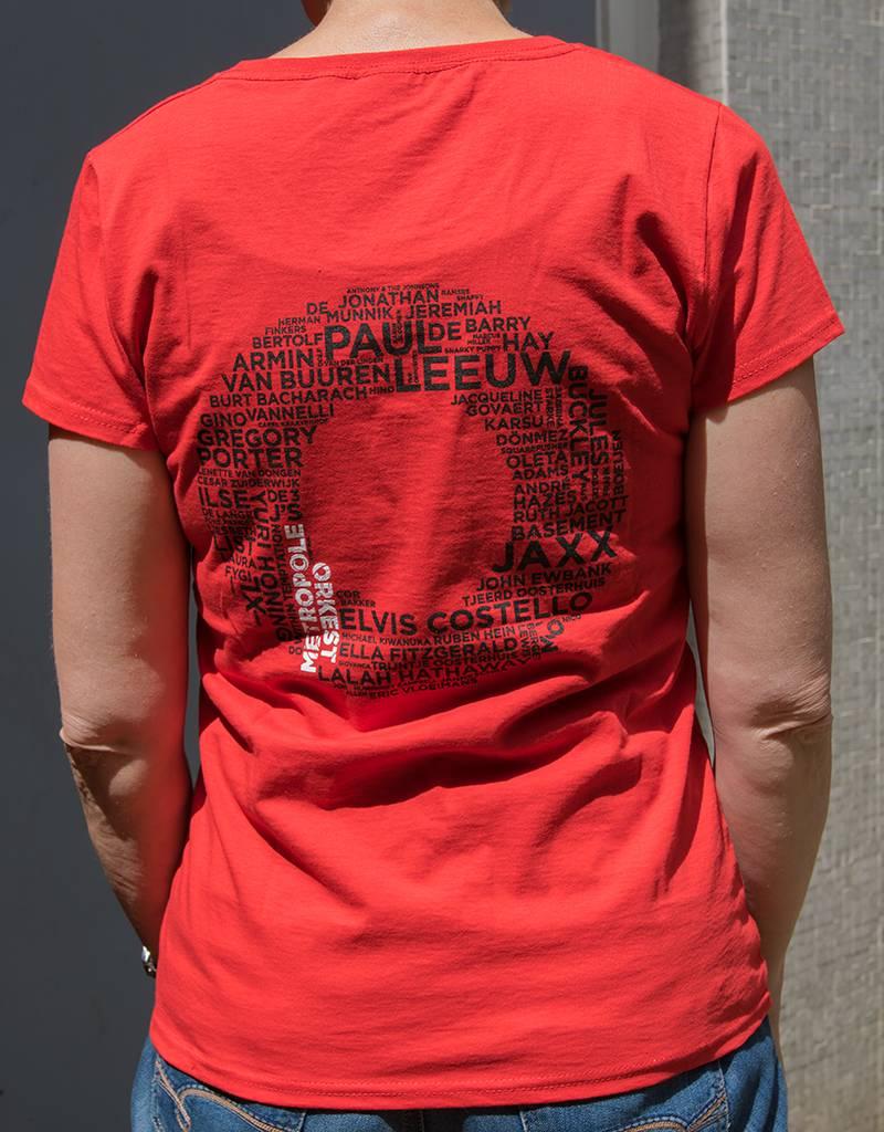 T-shirt Dames Rood