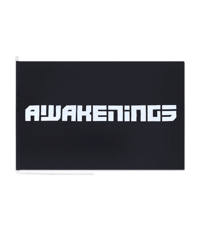 Awakenings flag black/white