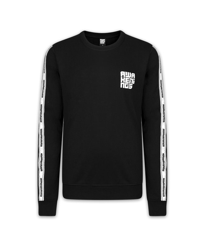 AWAKENINGS CREWNECK BLACK/TAPE