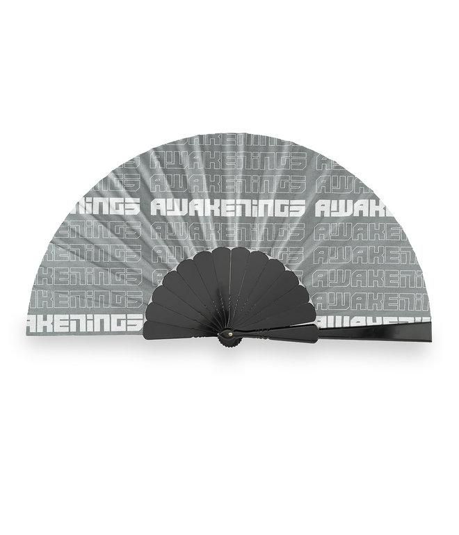 Awakenings handfan grey/pattern