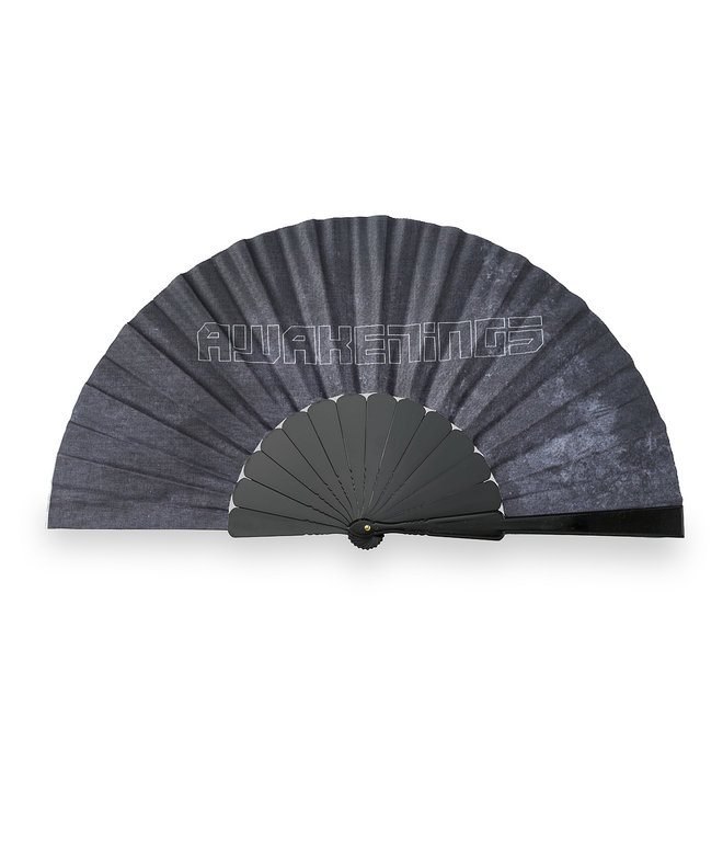 Awakenings handfan black/grey smoke