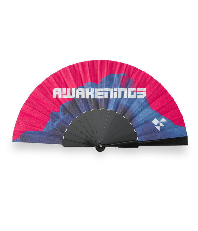 Awakenings handfan blue/red