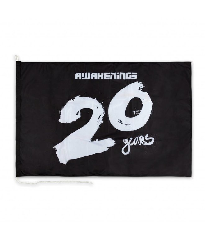 Awakenings 20 Years Flag Black
