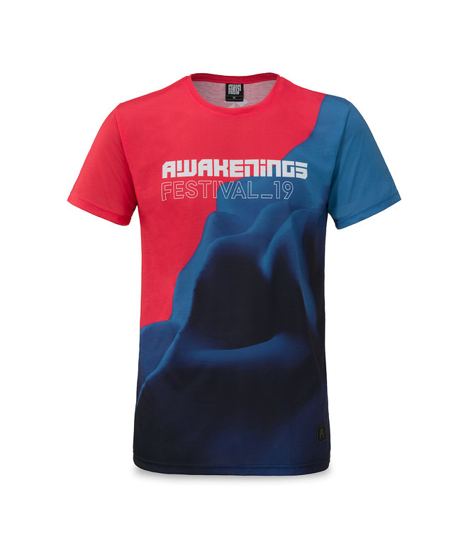 Awakenings t-shirt blue/red