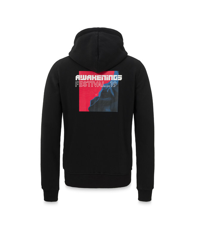 Awakenings hooded zip black