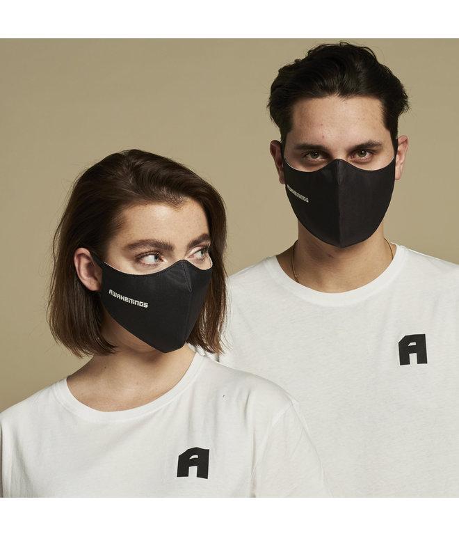 Awakenings face mask black/white