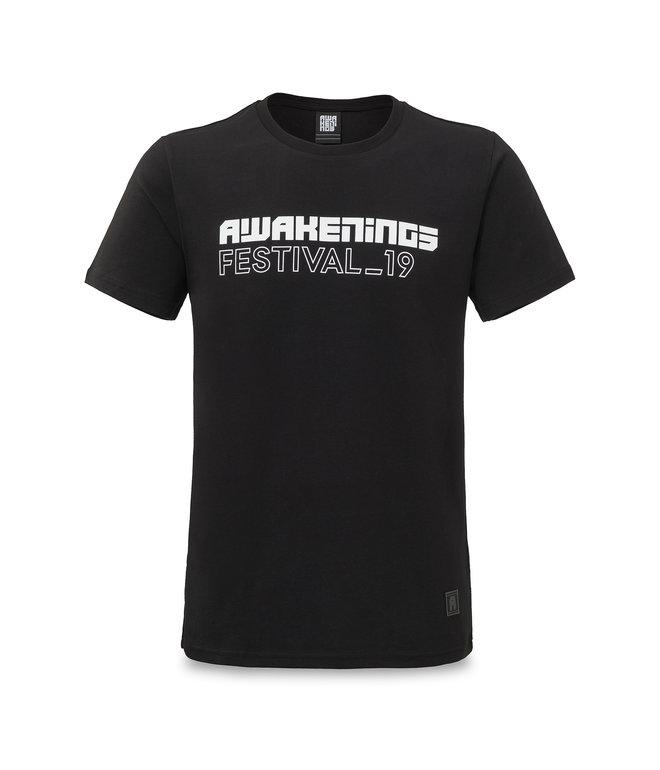 Awakenings line-up t-shirt black/white