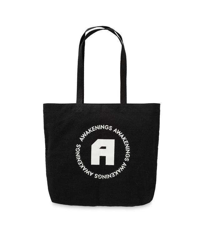 Awakenings beach bag black/white