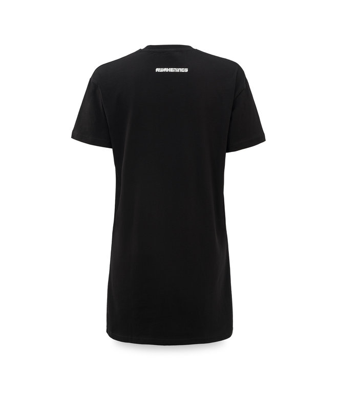 Awakenings t-shirt dress black/white