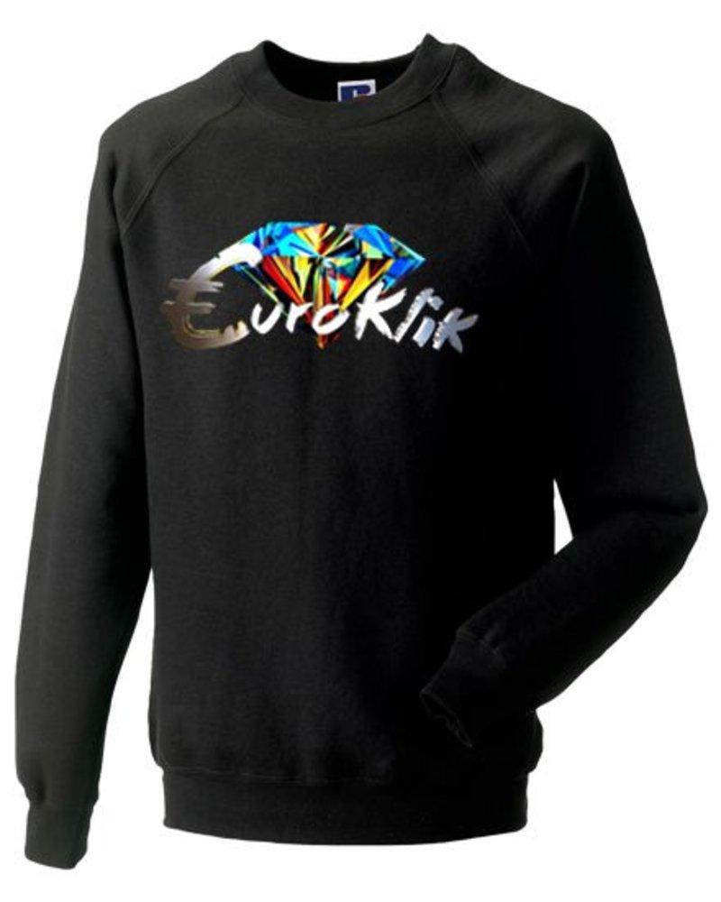 EUROKLIK Crewneck sweater Euroklik Color Diamond logo