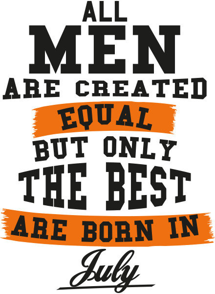 DOPE ON COTTON T-shirt The Best are born in..